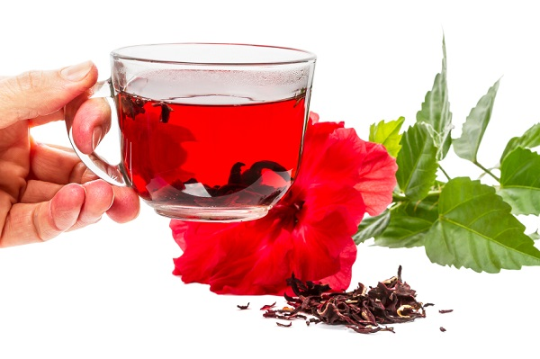 Cup of hot tea hibiscus