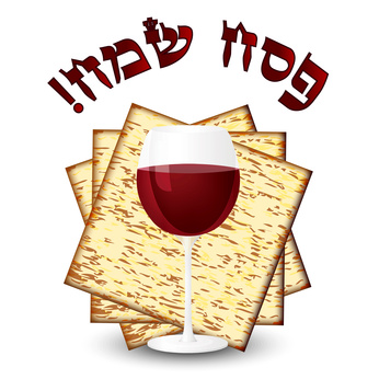 Happy passover - matza & wine